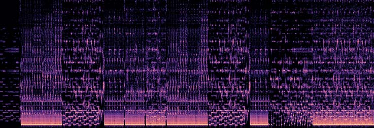 Image of a music spectrogram
